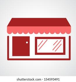 storefront icon isolated on white background