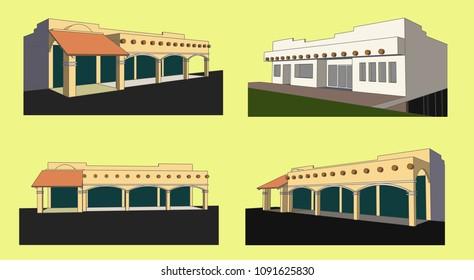 Storehouse Vector & Illustration