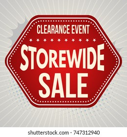 Storewide sale typographic design template, vector illustration