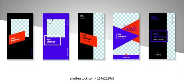 Stories lookbook fashion template illustration