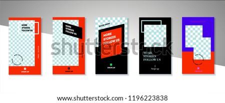 stories lookbook fashion template illustration stock vector royalty