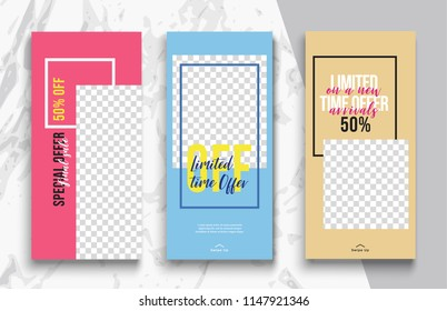 Stories template. Photo frame. Streaming. Mockup for photo isolated on transparent background