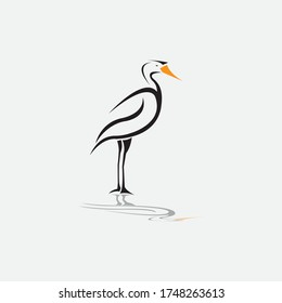 stork black vector illustration design