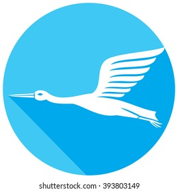 stork flat icon