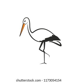 Stork. Logo design inspiration