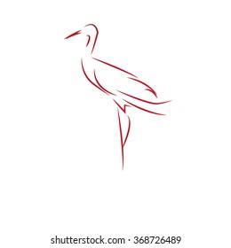 stork - vector illustrator