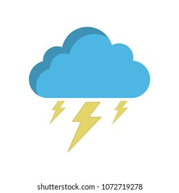 Storm cloud icon in flat style, isolated on white background. Rainstorm symbol for your web site design, logo, app