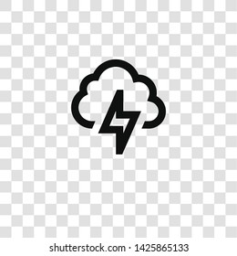 storm icon from miscellaneous collection for mobile concept and web apps icon. Transparent outline, thin line storm icon for website design and mobile, app development