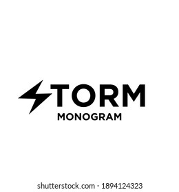 storm with initial letter with s modification as thunderbolt vector logo icon illustration design isolated white background