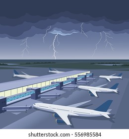 Storm on the airport