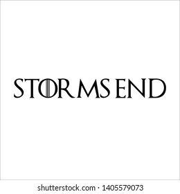Storm's end typography vector illustration