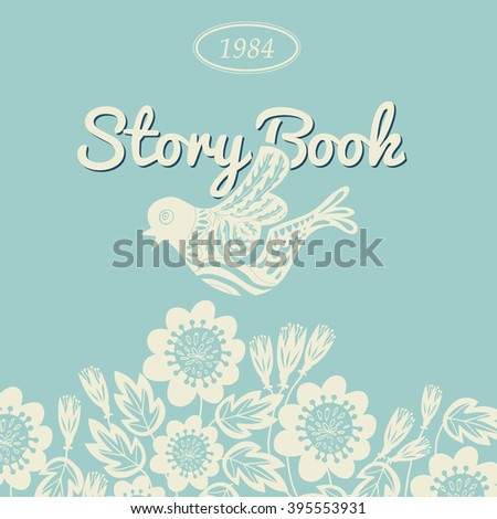 Story Book Cover Design Template Birds Stock Vector Royalty Free