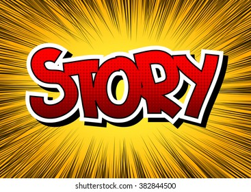 Story - Comic book style word