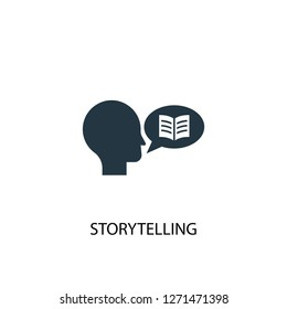 storytelling icon. Simple element illustration. storytelling concept symbol design. Can be used for web and mobile.