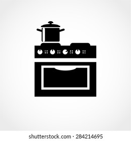 Stove Icon Isolated on White Background