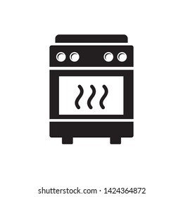stove icon vector cooking symbol logo template