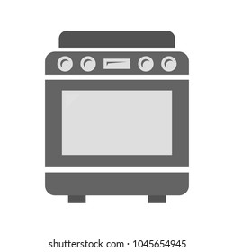 stove oven icon, vector gas stove, kitchen cooking appliance