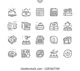 Stove Well-crafted Pixel Perfect Vector Thin Line Icons 30 2x Grid for Web Graphics and Apps. Simple Minimal Pictogram