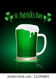 St.Patrick beer mag, vector illustration, eps10