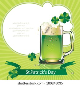 St.Patrick's Day background with beer.
