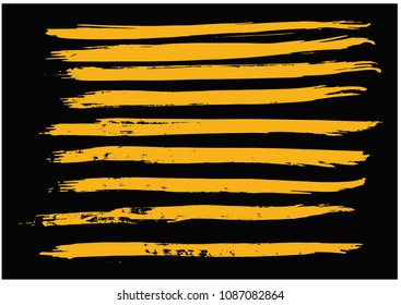 Straight Lines of Paint Brush Strokes in Grunge Style