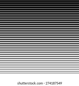 Straight, parallel lines from thick to thin to down. Horizontally repeatable
