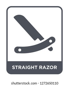 straight razor icon vector on white background, straight razor trendy filled icons from Beauty collection, straight razor simple element illustration