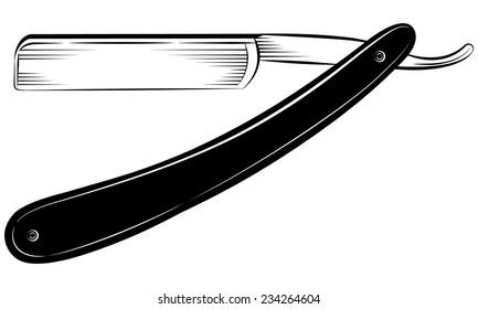 Straight razor on a white background vector illustration