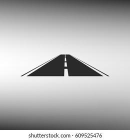Straight road vector icon illustration