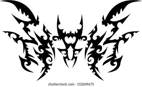 Strange tattoo graphics.