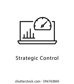 Strategic Control Vector Line Icon
