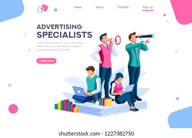 Strategy and analysis on a conceptual application for promotion contacts. Infographic of integrate industry. Designer company mechanisms, fun data inspiration for supply. Concept with character vector