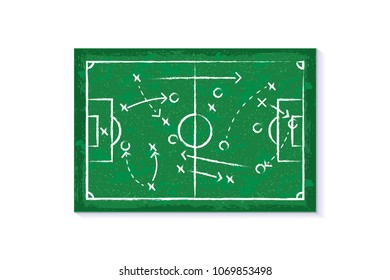 Strategy concept vector symbol or strategy sign illustration. Tournaments of football Russia world cup 2018, championship concept.