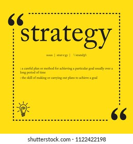 Strategy definition spelling word