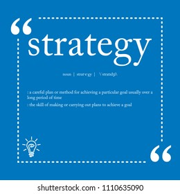 Strategy definition word spelling