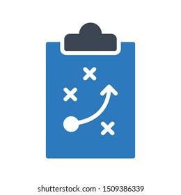 strategy glyph colour vector icon