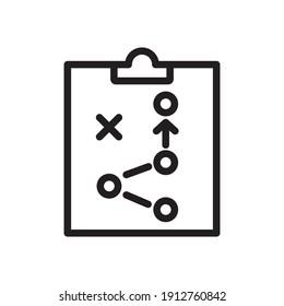 Strategy Icon Design Vector Template Illustration