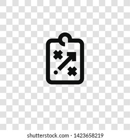 strategy icon from miscellaneous collection for mobile concept and web apps icon. Transparent outline, thin line strategy icon for website design and mobile, app development