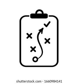 Strategy icon, strategic plan - stock vector