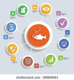 Strategy info graphic design,vector