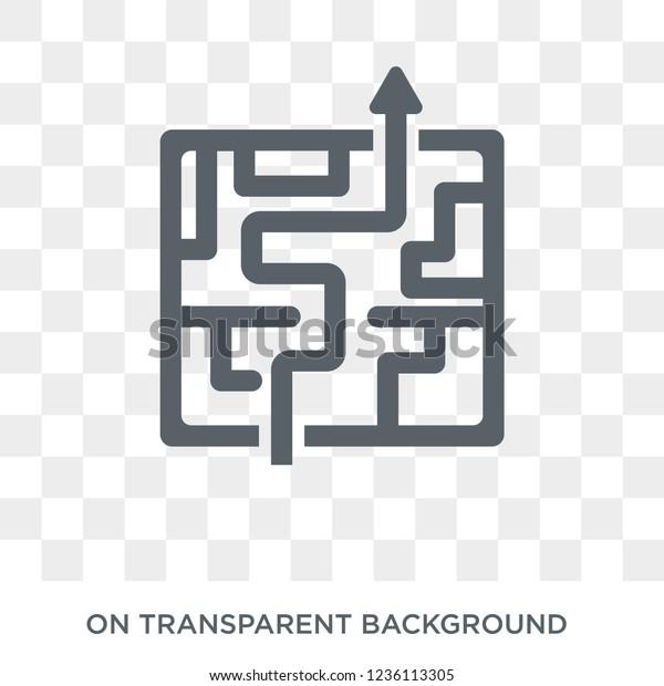 迷路アイコンの戦略 Strategy 50コレクションの複雑な設計コンセプトの戦略 透明な背景に簡単なエレメントベクターイラスト のベクター画像素材 ロイヤリティフリー