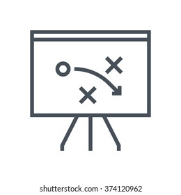 Strategy, tactics icon suitable for info graphics, websites and print media and  interfaces. Line vector icon.
