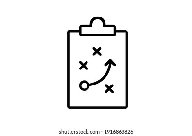 Strategy thin line vector icon.  Vector illustration EPS10.