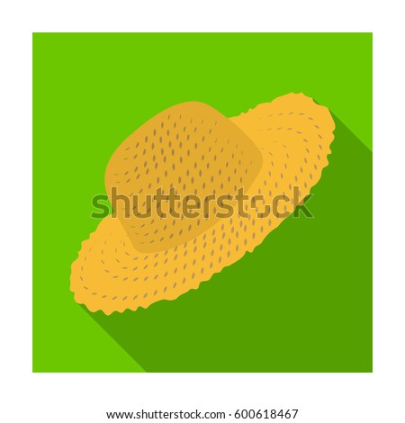 Straw Hat Gardener Headpiece Protection Sun Farm Stock Vector ...