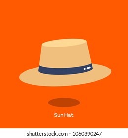 Straw sun hat with wide brim. Light weight straw hat is design to shade the face and shoulder from sun. We call harvest hat or field hat sometimes.
