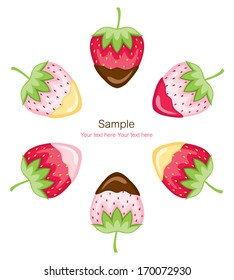strawberries and pineberries (dipped)