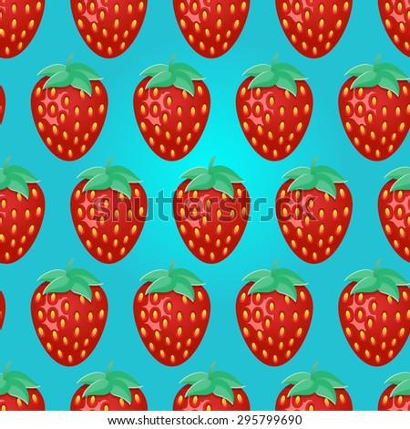 Strawberries Seamless Pattern Strawberries Background Strawberry Best Strawberry Pattern