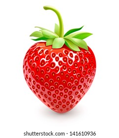 Strawberries. Vector Eps 10.