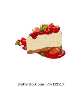 strawberry cake drawing