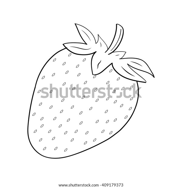 - Strawberry Coloring Book Stock Vector (Royalty Free) 409179373